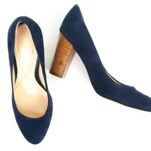 Isola Blue Suede Leather Heels 7.5 EUC